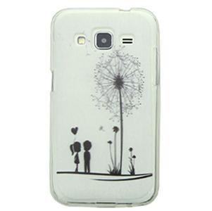 Ốp lưng - Flipcover điện thoại Ốp lưng Core Prime Nhựa dẻo Cover kiss Xám
