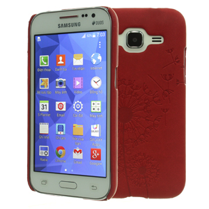 Ốp lưng - Flipcover điện thoại Ốp lưng Galaxy Core Prime Coreka Đỏ