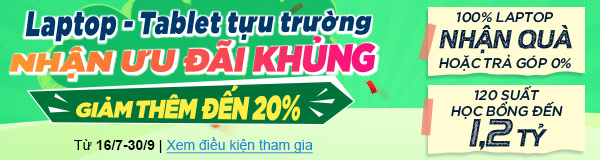 Back to school laptop giảm 20%